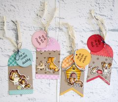 Sunny Studio Stamps Puppy Parents Card by Lexa Levana