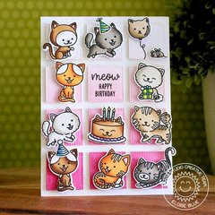 Sunny Studio Stamps Purrfect Birthday Cat Card by
