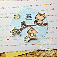 Sunny Studio Stamps Purrfect Bird & Cat Card by Franci Vignoli