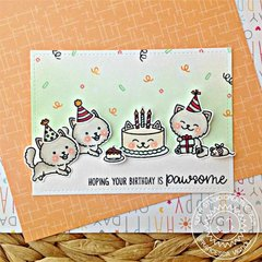 Sunny Studio Stamps Purrfect Birthday Cat Card by Franci Vignoli