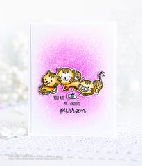 Sunny Studio Stamps Purrfect Cat Card by Kay Miller