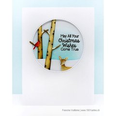 Sunny Studio Stamps Rustic Winter Christmas Card by Francine Vuillème