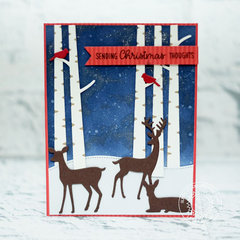 Sunny Studio Stamps Rustic Winter Christmas Card by Eloise Blue