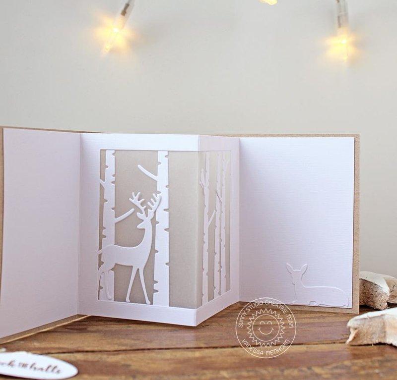Sunny Studio Stamps Rustic Winter Card by Vanessa Menhorn