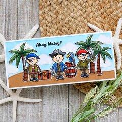 Sunny Studio Stamps Seasonal Trees Card by Juliana Michaels