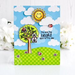 Sunny Studio Stamps Seasonal Trees Card by Leanne West