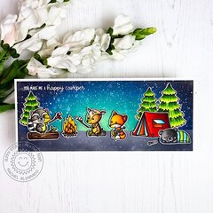 Sunny Studio Stamps Seasonal Trees Camping Card by Rachel