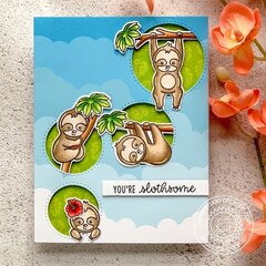 Sunny Studio Stamps Silly Sloths Card by Angelica Conrad