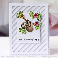 Sunny Studio Stamps Silly Sloths Card by Karin