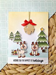 Sunny Studio Silver Bells Christmas Card by Francesca Vignoli
