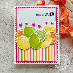 Sunny Studio Stamps Slice of Summer Lemon Lime Card by Angelica Conrad