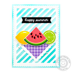 Sunny Studio Stamps Slice of Summer Card by Anja