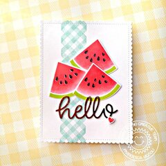Sunny Studio Stamps Slice of Summer Watermelon Card by Franci