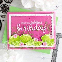 Sunny Studio Stamps Slice of Summer Lemon Lime Card by Leanne West