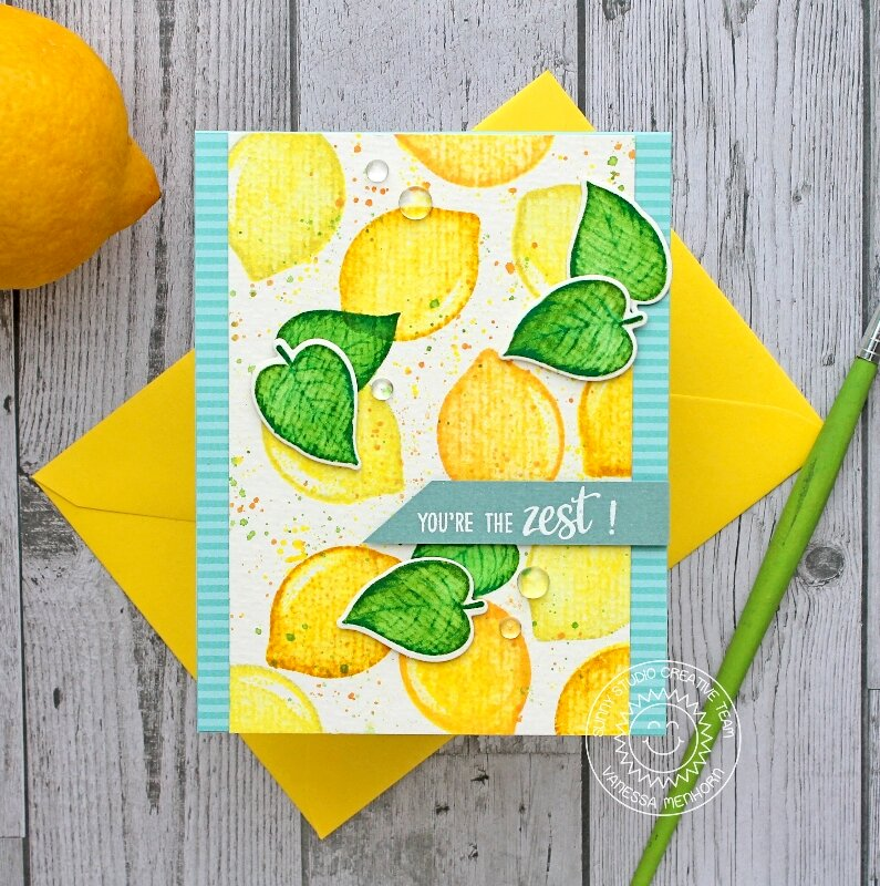 Sunny Studio Stamps Slice of Summer Lemon Card by Vanessa Menhorn