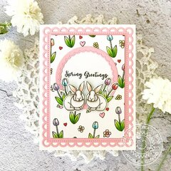 Sunny Studio Stamps Spring Greetings Easter Card by Angelica Conrad