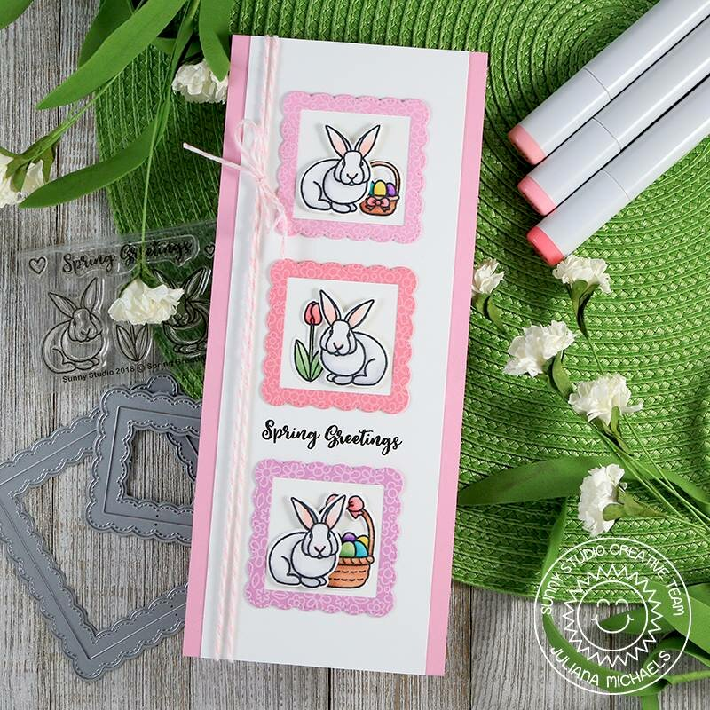 Sunny Studio Stamps Spring Greetings Easter Card by Juliana Michaels