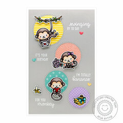 Sunny Studio Stamps Love Monkey Card by Anja Bytyqi