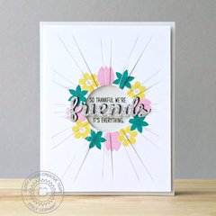 Sunny Studio Friends & Family Sun Ray Card by Emily Leiphart