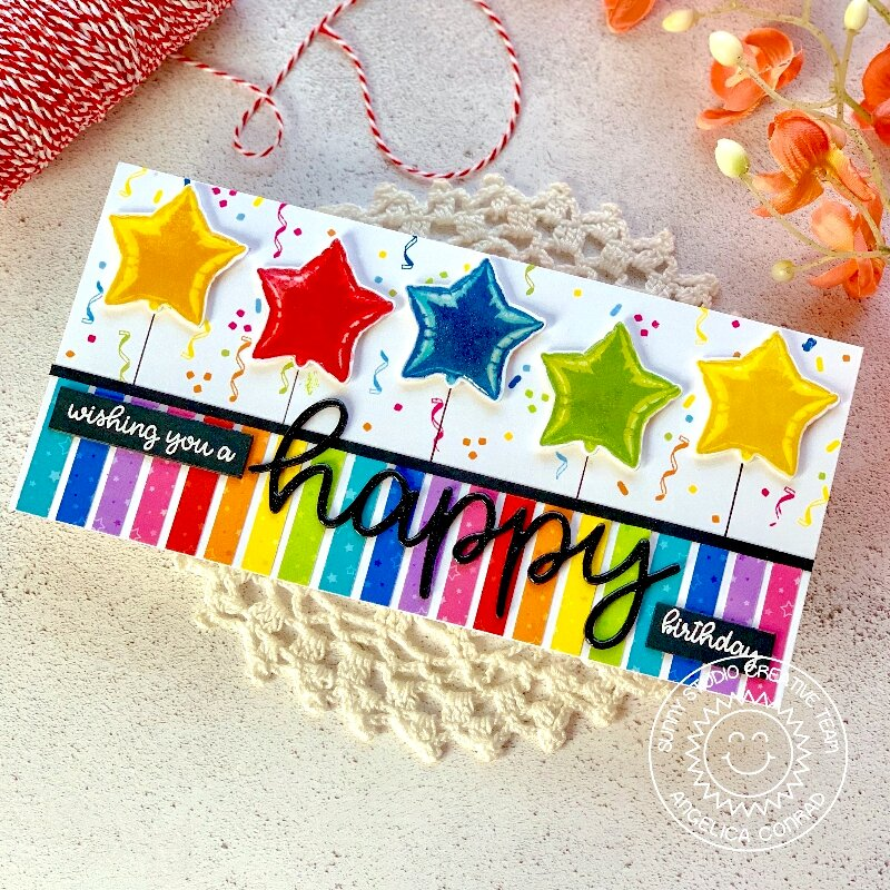 Sunny Studio Stamps Surprise Party Card by