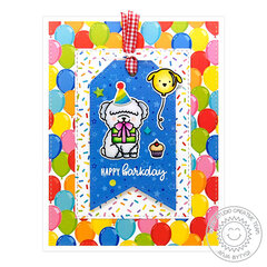 Sunny Studio Stamps Surprise Party Birthday Card by Anja