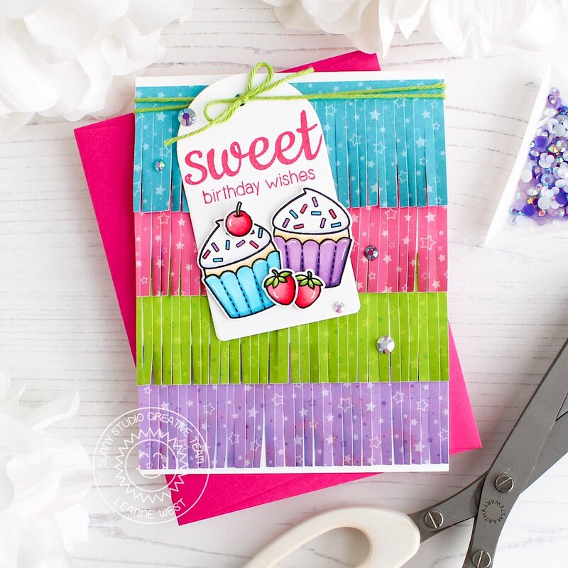 Sunny Studio Stamps Surprise Party Birthday Card by Leanne West