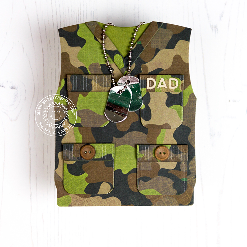 Sunny Studio Stamps Sweater Vest Father's Day Card by Rachel