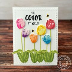Sunny Studio Timeless Tulips Card by Amy Yang