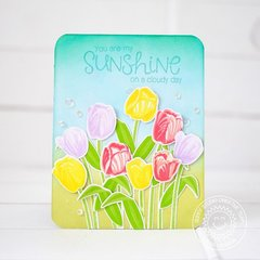Sunny Studio Timeless Tulips Card by Lexa Levana