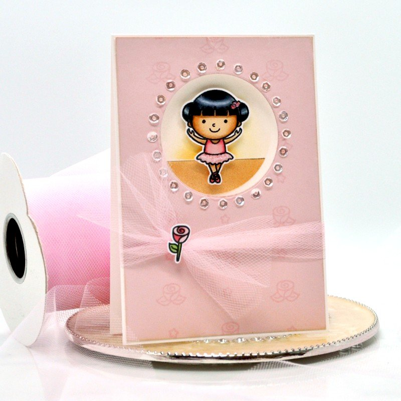 Sunny Studio Stamps Tiny Dancer Card by Debbie Olson