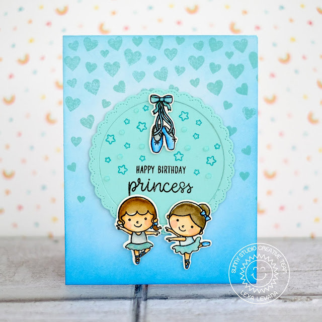 Sunny Studio Stamps Tiny Dancer Card by Lexa Levana