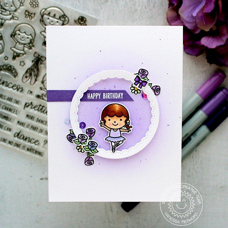 Sunny Studio Stamps Tiny Dancer Card by Vanessa Menhorn