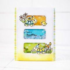 Sunny Studio Turtley Awesome Turtle Card by Lexa Levana