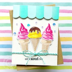 Sunny Studio Stamps Two Scoops Card by Amy Yang