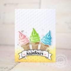 Sunny Studio Stamps Two Scoops Card by Lexa Levana