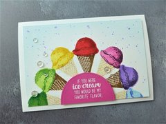 Sunny Studio Two Scoops Ice Cream Card by Maria Peters