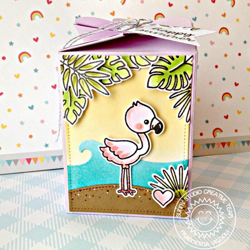 Sunny Studio Stamps Fabulous Flamingos Box by Franci