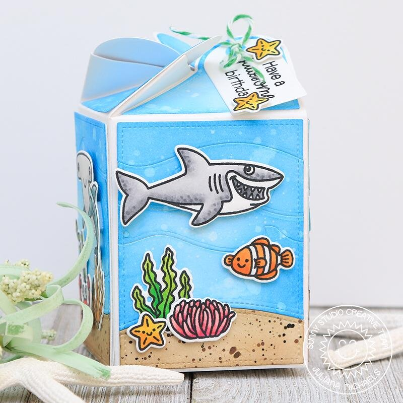 Sunny Studio Stamps Best Fishes Card by Juliana Michaels
