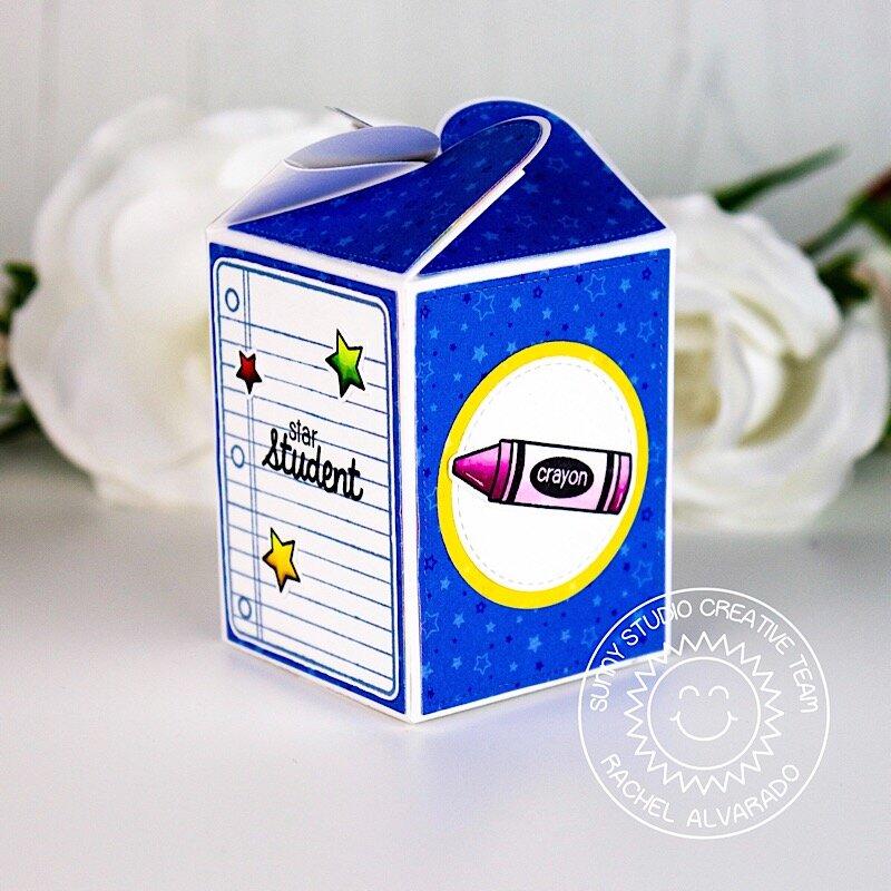 Sunny Studio Stamps School Themed Treat Box by Rachel