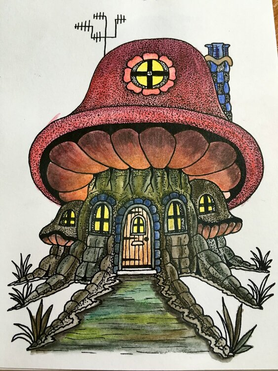 Fairy house coloring
