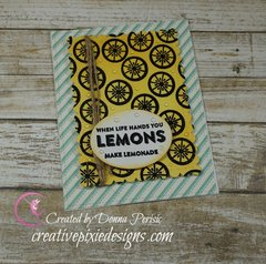 Summer inspired Lemonade Card
