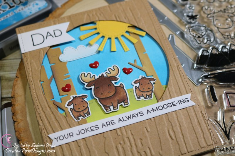 Lawn Fawn Dad+Me Moose family Father's Day Card