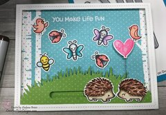 Lawn Fawn Hedgehugs You Make Life Fun Interactive Card
