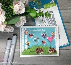 Lawn Fawn Hedgehugs You Make Life Fun Interactive Card