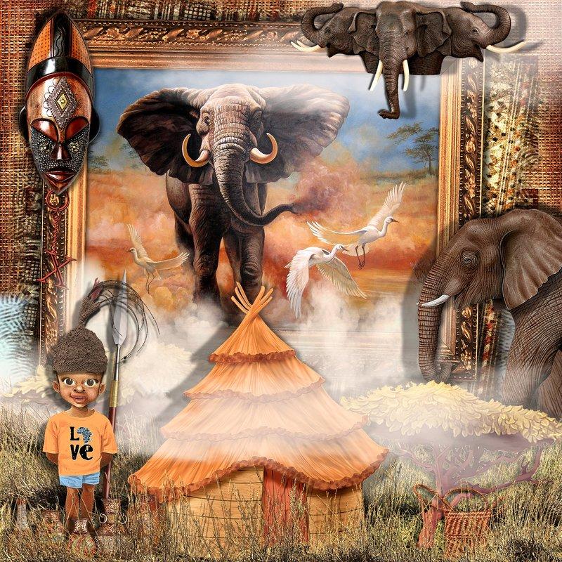 African Elephant's Boy