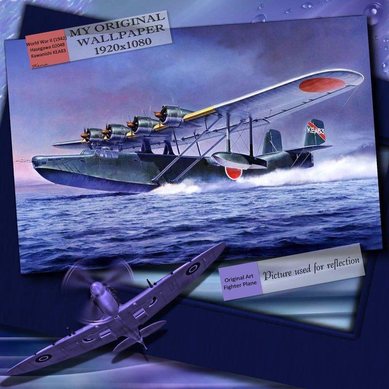 Original Display World War II Fighter Plane (Wallpaper Image)