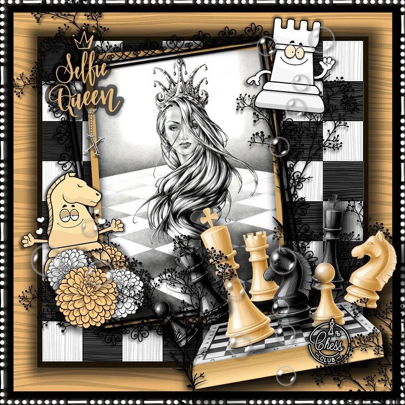 Selfie Chess Queen