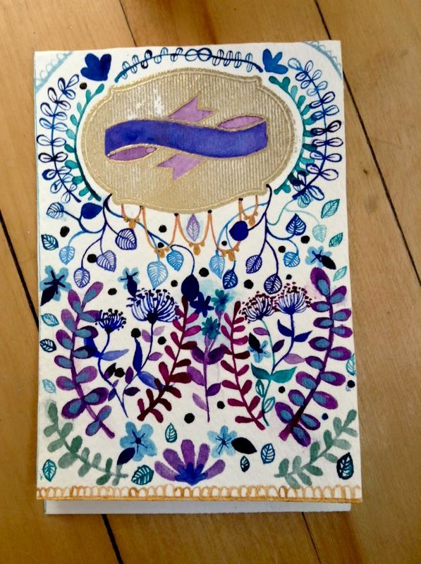 Blue Festive card with Embossing