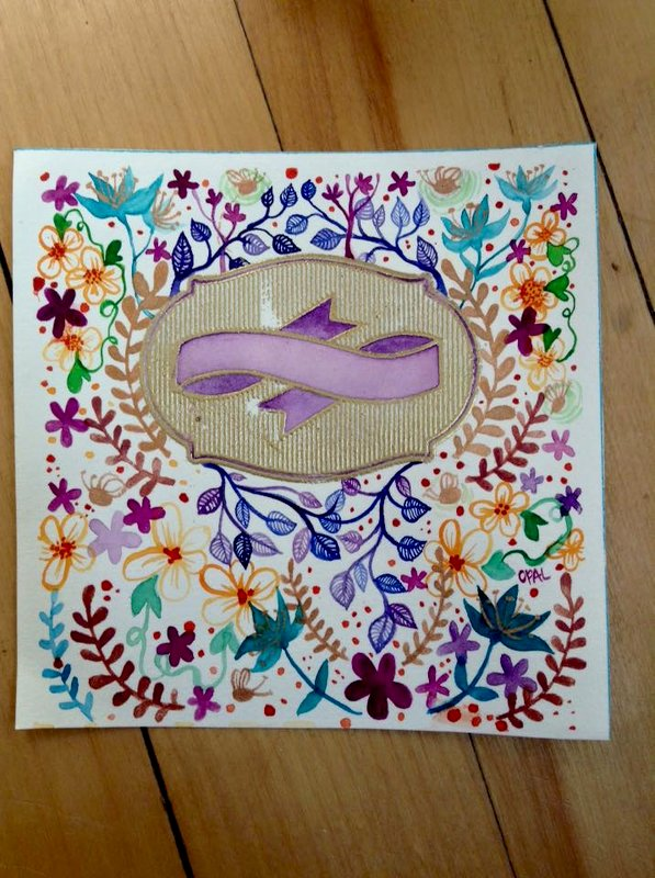 Festive card with Embossing