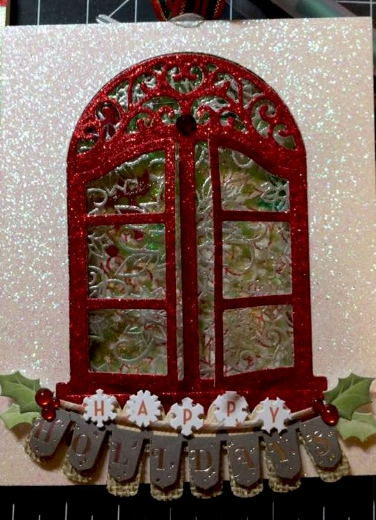 Happy Holiday Banner Window